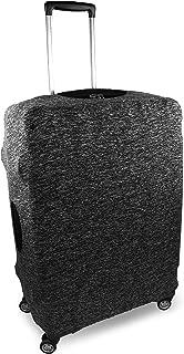 Containers By Aline- Funda protectora para maletas de viaje de lycra elástica en 3 tamaños universales de maletas antipolvo y anti rayaduras - Forro para equipajes - Cubierta para equipajes - Color Gris Jaspe, Tamaño Grande