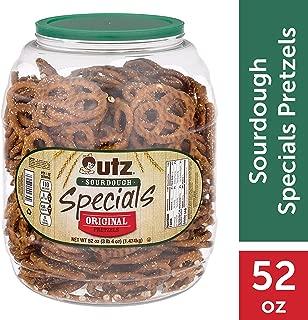 Utz Sourdough Specials Pretzels – Classic Sourdough Pretzel Knot Twist, Perfectly Salted Crunchy Sourdough Pretzel with Zero Cholesterol per Serving, 52 oz. Barrel