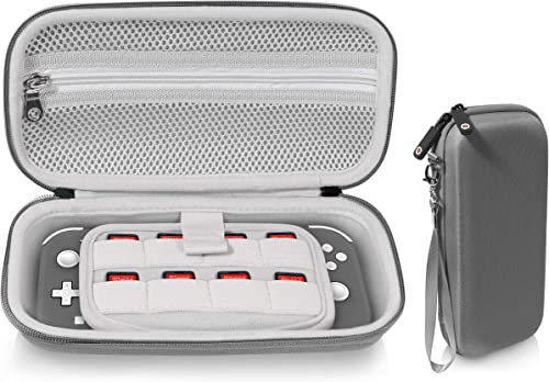 2021 getgear wholesale Case for Nintendo Switch Lite, divide panel for extra Screen protection, Switch Game card lowest holders, mesh accessory pocket (Gray) online