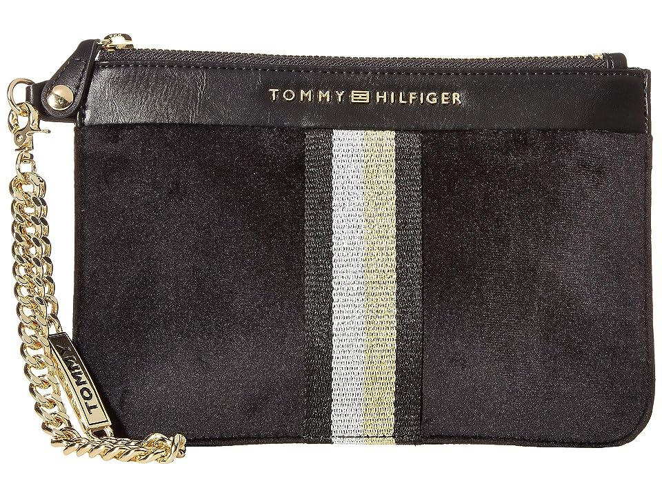 Tommy Hilfiger Serif Wristlet (Black) Wristlet Handbags