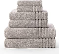 Cotton Craft - Super Zero Twist 6 Pack Towel Set Light Grey- 7 Star Hotel Collection Beyond Luxury Softer Than A Cloud, Co...