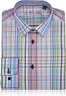 Boys Multi Color Stripped Dress Shirt Long Sleeve Button Down - (Sizes 4-20)