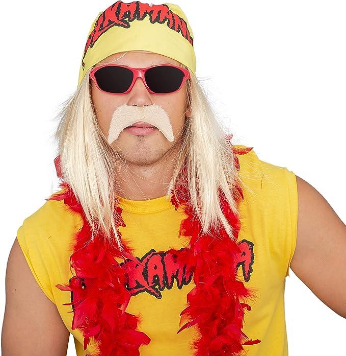 Hulk Hogan, Hulkamania - Set completo per costume : Amazon.it: Moda