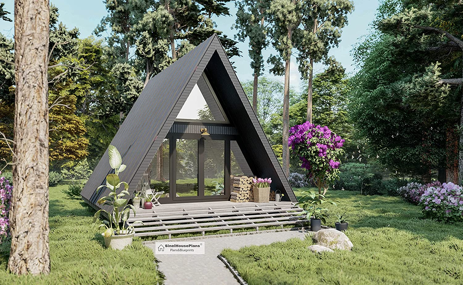 A-Frame Discount is also underway two Story Tiny House Plans B 26' Triangular New life Cabin x 20'