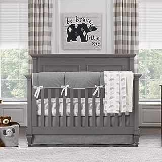 Liz and Roo Cubby Bumperless Crib Bedding 3-Piece Set, Gray