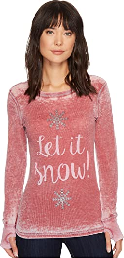 Allen Allen - Let It Snow Thermal Top
