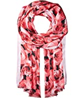 Kate Spade New York - Tapestry Rose Silk Oblong Scarf