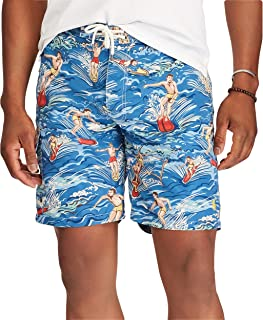 fe303f7cd0 Polo Ralph Lauren Men's Big and Tall Kailua Surf Swim Trunks (Hawaiian  Surfer)