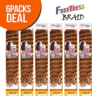 FreeTress Synthetic Hair Crochet Braids 2X Soft Faux Loc Curly 18