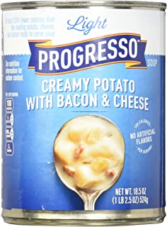 Progresso Low Fat Light Creamy Potato with Bacon & Cheese Soup 18.5 Ounce (Pack of 12)