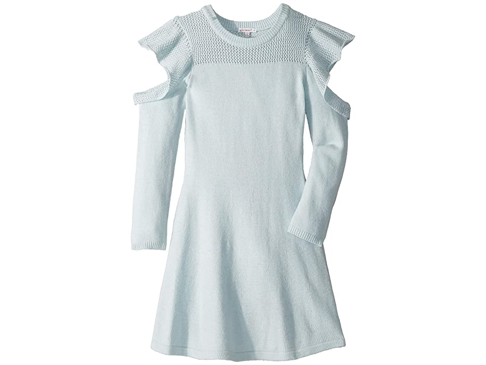 Ella Moss Girl Cold Shoulder Swing Dress (Big Kids) (Baby Blue) Girl