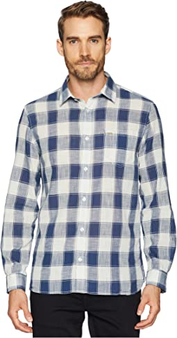Long Sleeve Gauze Check Button Down