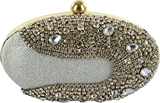 33430f2e21 Tooba Handicraft Party Wear Hand Embroidered Box Clutch Bag Purse For  Bridal, Casual, Party