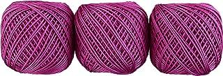 オリムパス製絲 エミーグランデ カラーズ レース糸 合細 col.127 ピンク 系 10g 約44m 3玉セット