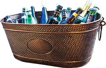 BREKX Colt Copper Galvanized Oval Beverage Tub