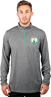 NBA Adult Men Quarter Zip Pullover Shirt Athletic Quick Dry Tee