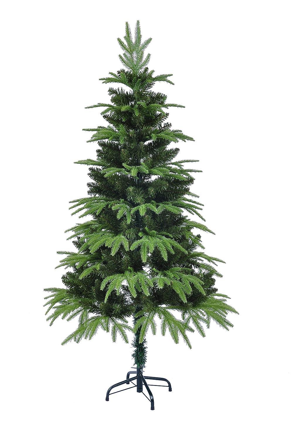 船尾東ティモール冒険家クリスマスツリー 120cm 150cm 2サイズ選択可 グリーン もみの木 Christmas tree オーナメント ツリースカート LEDイルミネーション付き HIMOE (150cm, クリスマスツリー+ブルーLED1本+ツリースカート(ブルー))