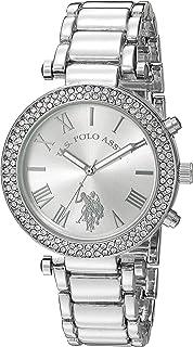 u.s. polo assn. Reloj plateado de mujer (modelo: usc40172)