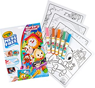 Crayola Color Wonder Nursery Rhymes, Mess Free Coloring Pages & Markers, Gift for Kids, Age 3, 4, 5, 6
