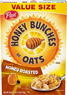 Post Honey Bunches of Oats Crunchy Honey Roasted Cereal, 28 Ounce Box