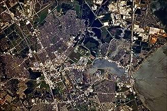 20x30 Poster; Nasa Johnson Space Center, Houston, Texas Satellite Map Image