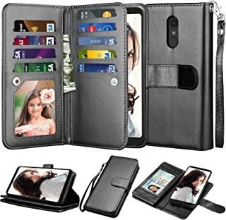 LG Stylo 4 Case, LG Stylo 4 Wallet Case, LG Q Stylus/Stylus 4/Stylo 4 Plus Case, Njjex [9 Card Slots] PU Leather ID Credit Flip Cover [Detachable][Kickstand] Magnetic Phone Case & Wrist Strap [Black]