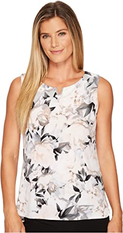Calvin Klein - Sleeveless Print Top w/ U Hardware