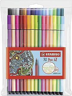 Rotulador STABILO Pen 68 - Estuche con 30 colores