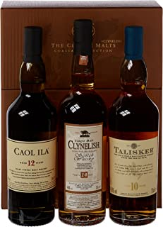 The Classic Malts Collection Pack Coastal Single Malt Whisky 3 x 0.2 l mit Talisker 10, Caol Ila 12, Clynelish 14