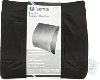 Body Sport Lumbar Support Back Cushion for Lumbar Support and Less Back Pain, Black