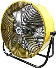 Maxx Air | Industrial Grade Air Circulator for Garage, Shop, Patio, Barn Use | 24-Inch High Velocity Drum Fan, Two-Speed, Yellow