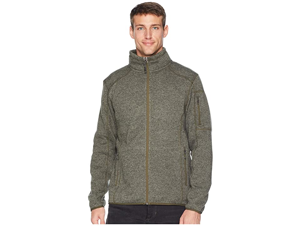 White Sierra Cloud Rest Sweater Fleece Jacket (Deep Lichen Green) Men