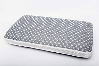 Pilofam Memory Foam Pillow, Cooling Charcoal Pillows for Sleeping, Cervical Bed Pillow for Neck Pain Orthopedic-Side Back ...