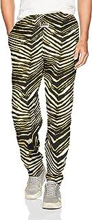 Zubaz Men's Classic Zebra Printed Athletic Lounge Pants, Black/Burnished Gold, 2XL
