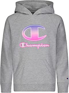 Champion Girls Classic French Terry Pull Over Hooded Sweatshirt Kids Clothing