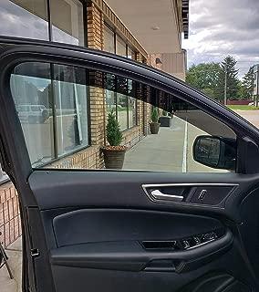 TRUE LINE Automotive Precut to Fit Front 4 inch Wide Side Window Tint Kit Sun Visor Strips