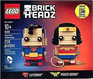2016 SDCC Exclusive LEGO Brick Headz DC Comics Superman & Wonder Woman 41490