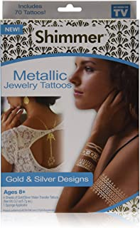 Best shimmer metallic jewelry tattoos Reviews