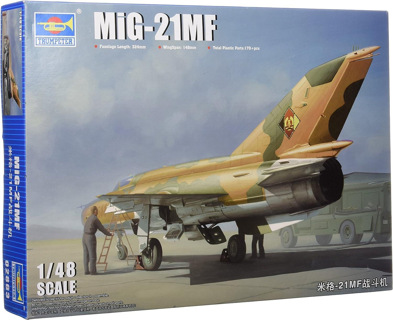 Trumpeter 1 48 MiG21MF Fishbed J 02863 Plastic Plastic Plastic Model
