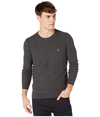 Original Penguin Tuck Stitch Sweater (Dark Charcoal Heather) Men