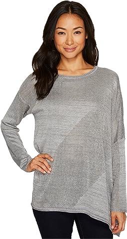 Fine Gauge Sweater Knit Asymmetrical