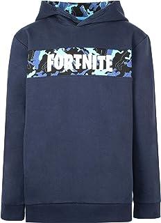 Fortnite - Sudaderas con capucha para niño - Sudadera Fortnite - Sudadera 100% Algodón Marino - Regalos Fortnite para niño...