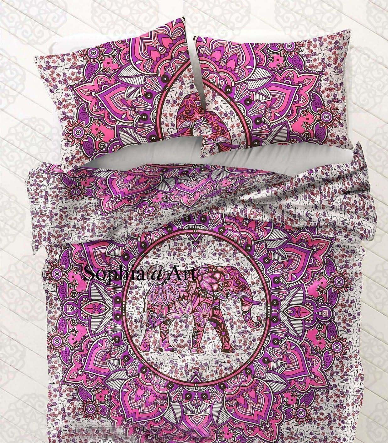 Max 72% OFF Sophia-Art Indian Handmade Ranking TOP9 Elephant Mandala Size Cov Queen Duvet
