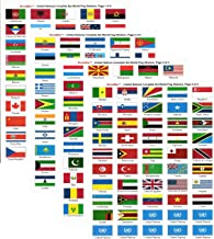 Made in The USA! United Nations Sticker Set with Country Name; 1.5