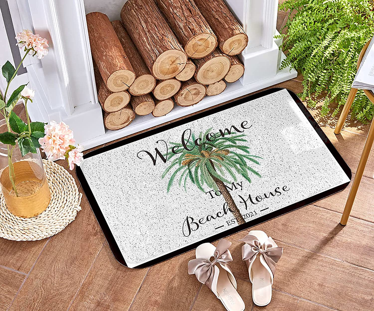 Front Door Welcome Mat Max 72% OFF Non-Slip Heavy Duty Summer Baltimore Mall Rug Entrance T
