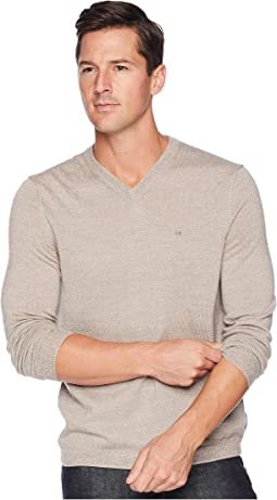 Solid Merino V-Neck Sweater
