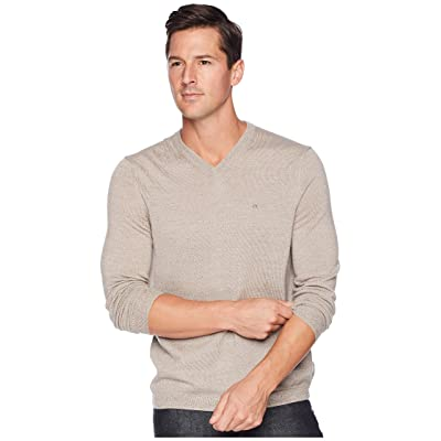 Calvin Klein Solid Merino V-Neck Sweater (Racconigi) Men