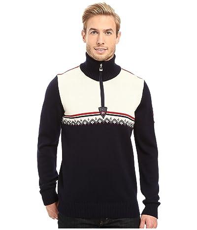 Dale of Norway Lahti Sweater (Navy/Raspberry) Men