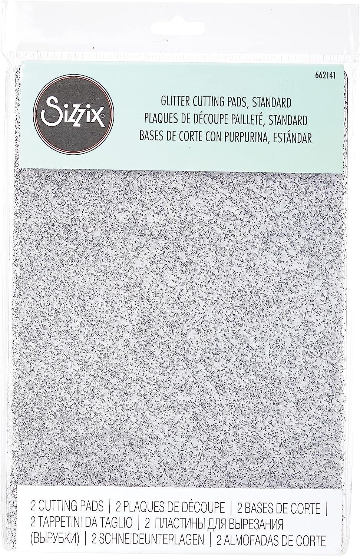 Sizzix Accesorio, Estándar 1 par (claro con brillo plateado), 22.5 x 15.5 x 0.7cm