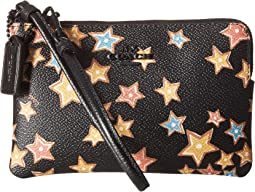 COACH Small Wristlet In Starlight Print Coated Canvas